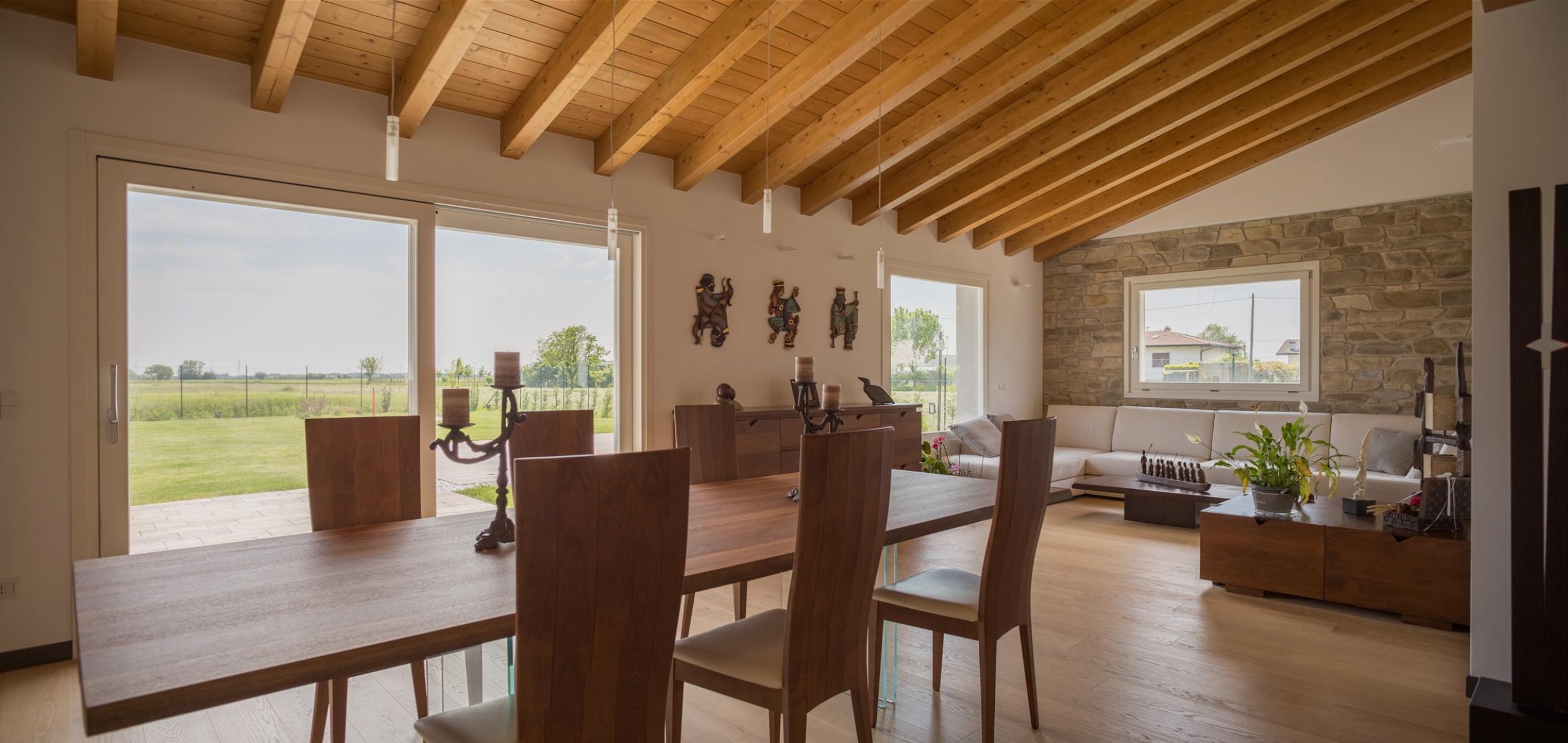 Casa moderna bioedilizia affordable casa a with casa for Casa moderna con tetto in legno